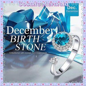 🆕❄️Rotating DECEMBER Birthstone Ring❄️ADJUSTABLE✨